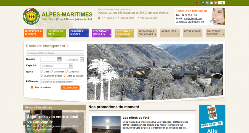 Gîtes de France Alpes Maritime