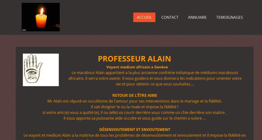 Professeur Alain, voyant amour et réussite en Suisse