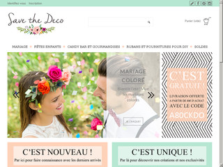 Vente en ligne d'accessoires pour décoration de mariage