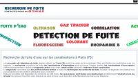 Spécialiste de la recherche des fuites d'eau à Paris (75)