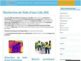 Recherche de fuites d'eau à Lille