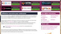Affiliation rencontre pour les webmasters