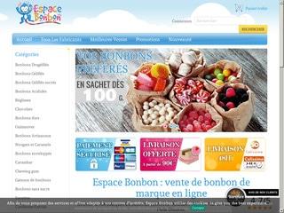 Espace Bonbon : vente en ligne de bonbons