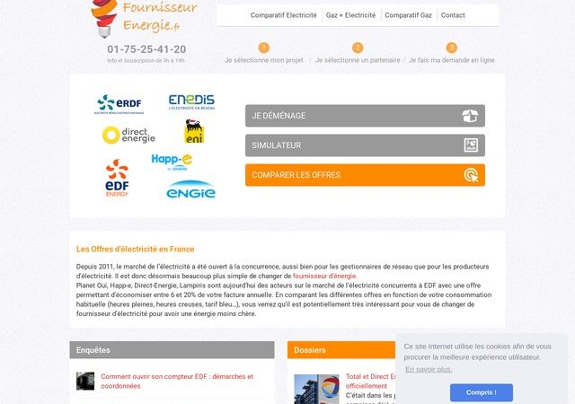 Comparateur de fournisseur d'énergie