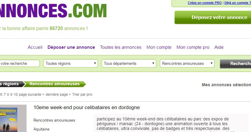 Annonces.com : annonces de rencontre