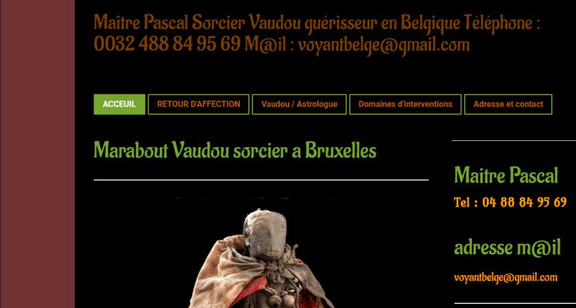Marabout vaudou sorcier à Bruxelles