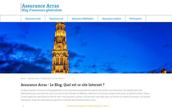 Le guide d'information sur les assurances à Arras