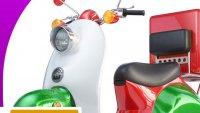 Assurance scooter de livraison de pizza