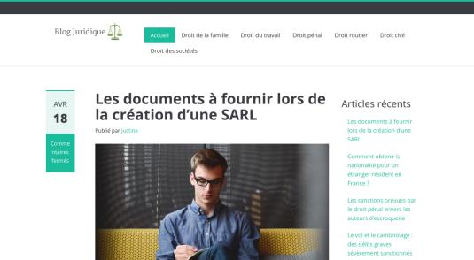Portail web d'informations juridiques