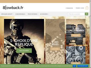 Blowback.fr: vente de répliques d'Airsoft