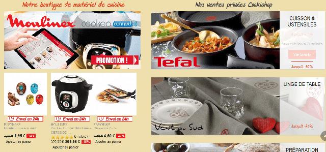 Cookishop: boutique en ligne d'ustensiles de cuisine