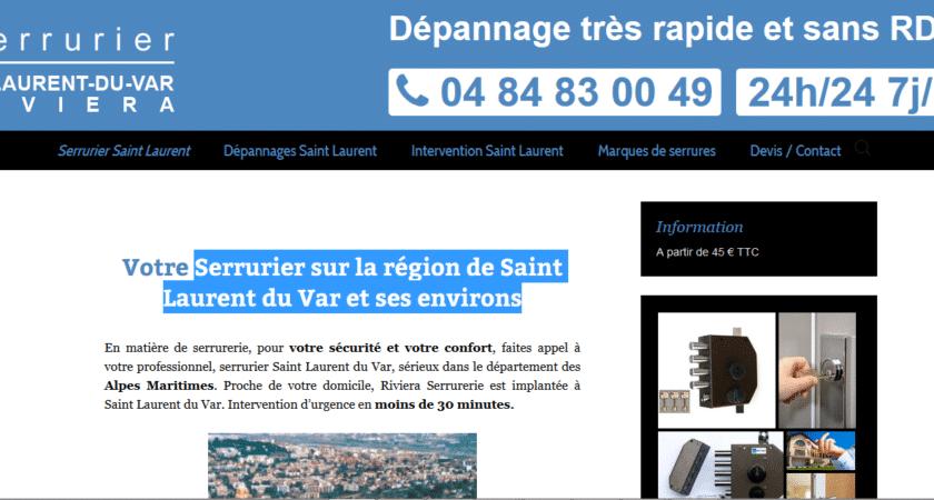 Serrurier sur la région de Saint Laurent du Var et ses environs