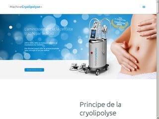 l'amincissement et le traitement de la cellulite grâce à la machine cryolipolyse