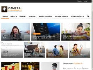 Pratique.ch, le site des remèdes, des astuces et des recettes.