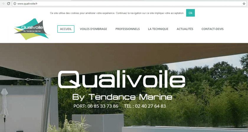 Tendance Marine: installation de voiles d'ombrage