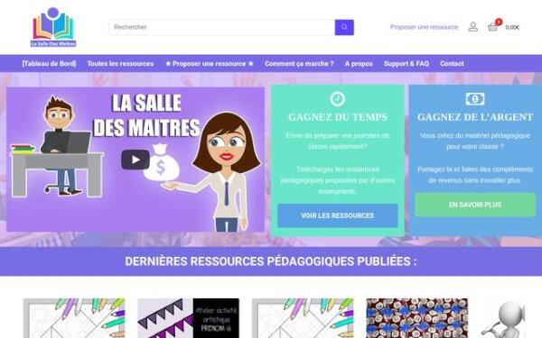 Plateforme de partage des ressources pédagogiques entre enseignants