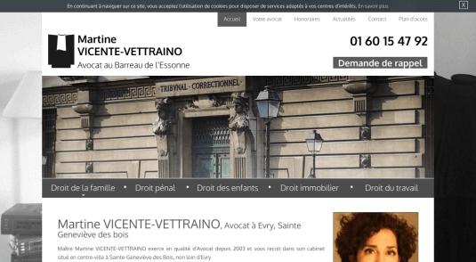 Martine VICENTE-VETTRAINO, Avocat à Evry