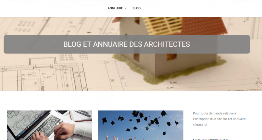 Blog et annuaire des architectes