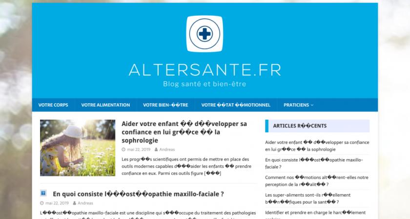Alter Santé, blog santé et bien-être